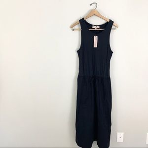Philosophy medium Maxi Dress Navy Blue Cotton